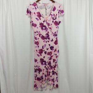 NWT Juicy Couture pink floral maxi dress